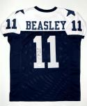 Cole Beasley Autographed Blue Pro Style Jersey- JSA Witnessed Authenticated