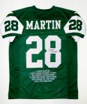 Curtis Martin Autographed Green Pro Style Stat Jersey- PSA/DNA Authenticated