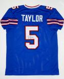 Tyrod Taylor Autographed Blue Pro Style Jersey-  PSA/DNA Authenticated