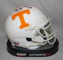 Arian Foster Autographed Tennessee Volunteers Schutt Mini Helmet- JSA W Auth