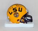 Patrick Peterson Tyrann Mathieu Autographed LSU Tigers Mini Helmet- JSA W Auth