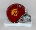 Troy Polamalu Autographed USC Trojans Mini Helmet- JSA Witnessed Auth