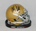 Allen Pinkett Autographed Notre Dame Fighting Irish Mini Helmet- JSA W Auth