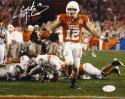 Colt McCoy Autographed Texas Longhorns 8x10 Against Ohio State Photo- JSA W Auth
