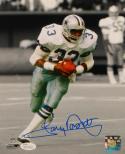 Tony Dorsett Signed Dallas Cowboys 8x10 Vertical Running PF. Photo- JSA W Auth