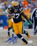 Eddie Lacy Autographed Green Bay Packers 8x10 Running In Snow Photo- JSA W Auth
