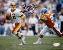 Gus Frerotte Autographed Redskins 8x10 Against Denver Photo- JSA Witnessed Auth