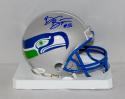 Brian Bosworth Autographed Seattle Seahawks Mini Helmet- JSA Witnessed Auth
