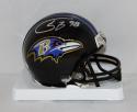 Tony Siragusa Autographed Baltimore Ravens Mini Helmet- JSA Witnessed Auth