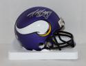 Adrian Peterson Autographed Minnesota Vikings Mini Helmet- Fanatics Auth