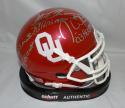 White Owens Sims Autographed OU Sooners Schutt Mini Helmet W/ Heisman-JSA W Auth