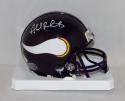 Ahmad Rashad Autographed Minnesota Vikings Mini Helmet- JSA Witnessed Auth