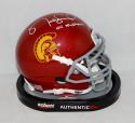 Matt Leinart Autographed USC Trojans Schutt Mini Helmet W/ Heisman- JSA W Auth