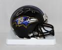 Ray Lewis Autographed Baltimore Ravens Mini Helmet- PSA/DNA Authenticated