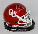 Brian Bosworth Autographed OU Sooners Schutt Mini Helmet- JSA Witnessed Auth