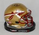 Deion Sanders Autographed Florida State Seminoles Mini Helmet- JSA W Auth