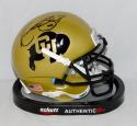 Kordell Stewart Autographed Colorado Boulder Mini Helmet- JSA Witnessed Auth
