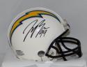 Joey Bosa Autographed San Diego Chargers Mini Helmet- JSA Witnessed Auth