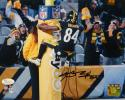 Antonio Brown Signed Pittsburgh Steelers 8x10 Goal Post PF. Photo- JSA W Auth
