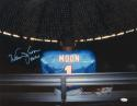 Warren Moon Signed Oilers 16x20 On Bench Under The Dome Photo W/ HOF- JSA W Auth
