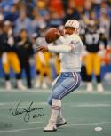 Warren Moon Autographed Houston Oilers 16x20 Vertical Photo W/ HOF- JSA W Auth
