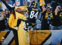 Antonio Brown Signed *Black Pittsburgh Steelers 16x20 Goal Post PF. Photo- JSA W Auth