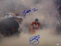 Brian Cushing Autographed Texans 16x20 In Smoke Photo W/ Battle Time- JSA W Auth