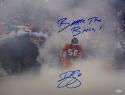 Brian Cushing Signed Texans 16x20 In Smoke Photo W/Battle Time Bitch- JSA W Auth