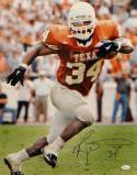 Ricky Williams Signed Longhorns 16x20 Vertical Running Photo- JSA Witnessed Auth