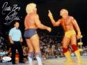 Ric Flair Nature Boy Autographed 8x10 Against Hogan Photo- JSA Witnessed Auth