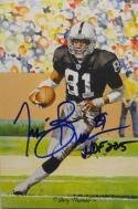 Tim Brown Autographed Oakland Raiders Goal Line Art Card W/ HOF- JSA W Auth