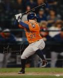Jose Altuve Autographed Houston Astros 16x20 Batting In Orange Photo- JSA W Auth