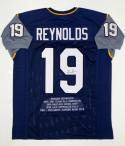 Keenan Reynolds Autographed Navy Blue College Style Stat Jersey- JSA W Auth