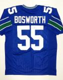 Brian Bosworth Autographed Blue Pro Style Jersey- JSA Witnessed Authenticated