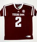 Johnny Manziel Autographed Texas A&M Maroon Adidas Jersey With HT and JSA W Auth