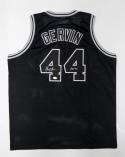 George Gervin Autographed Black Jersey With HOF- JSA Witnessed Authenticated
