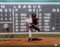Pedro Martinez Signed Red Sox 16x20 Pitching Scoreboard Photo W/ WSC- JSA W Auth
