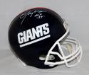 Lawrence Taylor Autographed *White New York Giants F/S Helmet W/ HOF- JSA W Auth