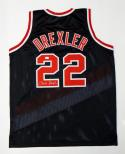 Clyde Drexler Autographed Black Jersey- JSA Witnessed Authenticated