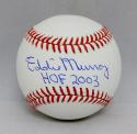 Eddie Murray Autographed Rawlings OML Baseball With HOF- JSA Witnessed Auth
