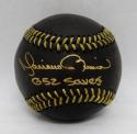 Mariano Rivera Autographed Rawlings OML Black Baseball W/ 652 Saves- JSA Auth