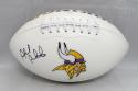 Ahmad Rashad Autographed Minnesota Vikings Logo Football- JSA Witnessed Auth