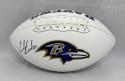 Ed Reed Autographed Baltimore Ravens Logo Football- PSA/DNA Authenticated