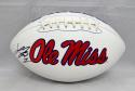 Laquon Treadwell Autographed Ole Miss Rebels Logo Football- JSA Witnessed Auth