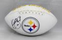 Kordell Stewart Autographed Pittsburgh Steelers Logo Football- JSA W Auth