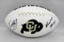 Kordell Stewart Autographed Colorado Boulder Logo Football- JSA Witnessed Auth