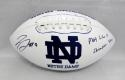 Jaylon Smith Signed Notre Dame Logo Football W/ Play Like A Champ- JSA W Auth