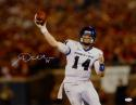 Andy Dalton Autographed TCU 16x20 Horizontal Passing Photo- JSA Witnessed Auth