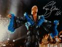 Ric Flair Autographed 16x20 Black and Blue Robe Photo- JSA Witnessed Auth