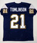 Ladainian Tomlinson Autographed Blue Pro-Style Jersey- JSA Authenticated